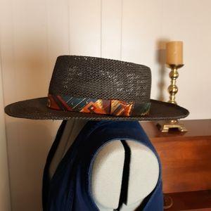 VTG western black summer hat